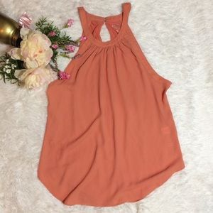 Tops - 🆑CLEARANCE🆑 Coral/Peach Sleeveless Tunic | Large